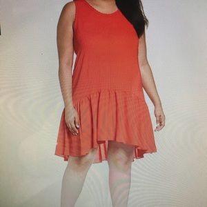 Chelsea 28 Fiery Red Summer Dress Plus 2X